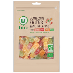 Bonbons frites sans gélatine U BIO, sachet 120g