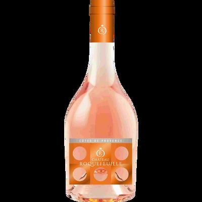 Vin rosé AOP Côtes de provence CHATEAU ROQUEFEUILLE, bouteille de 75cl
