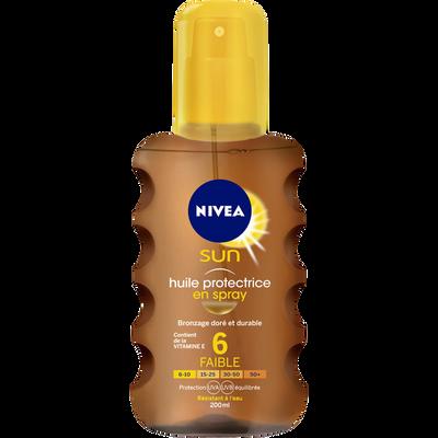 Huile protectrice fps6 NIVEA SUN spray 200ml