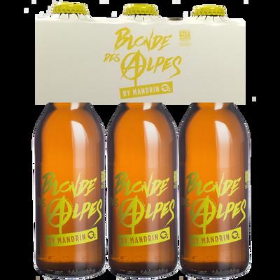 Bière blonde des Alpes by MANDRIN 4.8°, 3x33cl