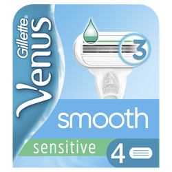 Lames de rasoir sensitive smooth GILLETTE venus, x4