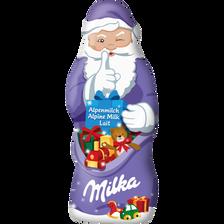 Père noël chocolat au lait MILKA, 50g