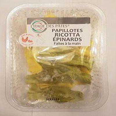 Papillottes Ricotta Epinards Faites à la main L'ITALIE DES PATES 250g