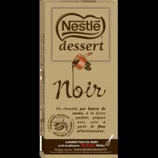 Chocolat noir NESTLE DESSERT, tablette de 205g
