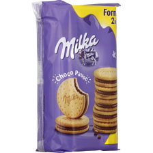 Biscuits choco pause MILKA, x2, 520g