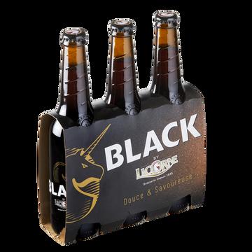 Licorne Bière Brune Licorne Black, 6°, 3 Bouteilles De 33cl