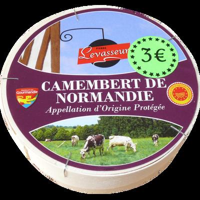 Camembert de Normandie AOP au lait cru 20% de MG, PIERRE LEVASSEUR, 250g