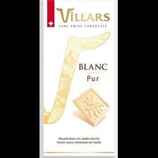 Tablette de chocolat blanc pur, VILLARS, 100g