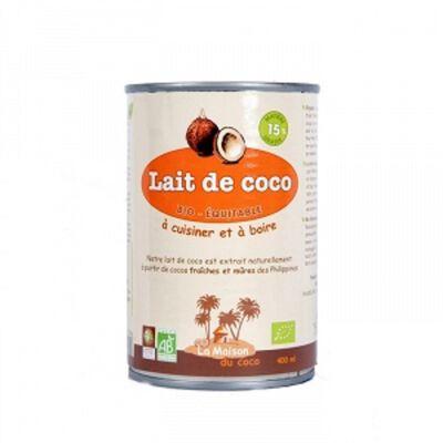 Lait de coco Bio, LA MAISON DU COCO,  400ml