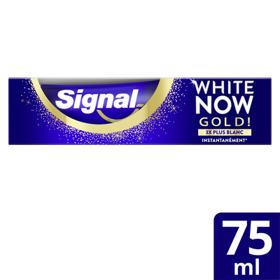 Dentifrice white now blancheur gold SIGNAL, 75ml
