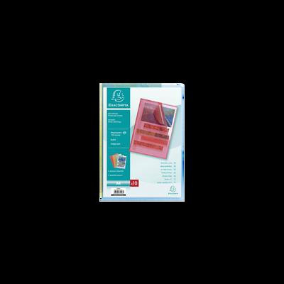 Pochettes à coin EXACOMPTA, format A4, 10 unités, coloris assortis