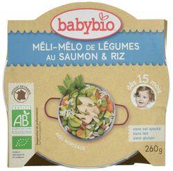 Ass méli-mélo de légumes, saumon et riz BABYBIO dès 15 mois 260g
