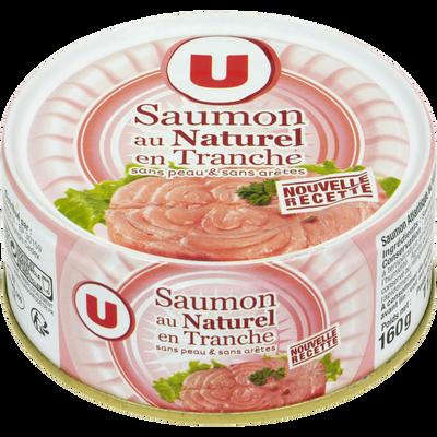 Saumon au naturel sans peau et sans arête U, boîte de 1/5, 112g