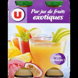 Pur jus de fruits exotiques U, 4 bouteilles de 20cl