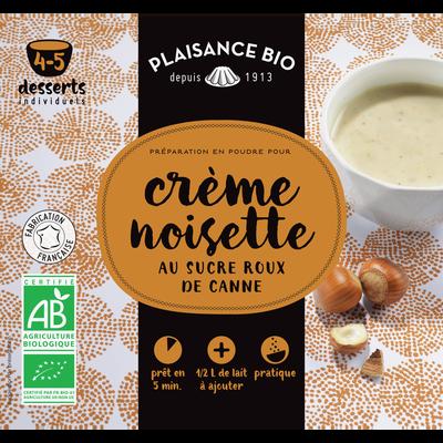 Préparation pour crème gourmande noisette bio, PLAISANCE BIO, 40g