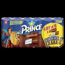 LU Prince Fourrés Au Chocolat X5 + Lait Et Chocolat X1 Lu, 1,8kg