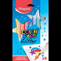 Feutres paillettes MAPED Color Peps