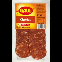 Chorizo fort porc d'origine Espagne GAUL 18 tranches 90g
