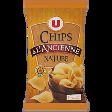 Chips à l'ancienne nature U, sachet de 150g