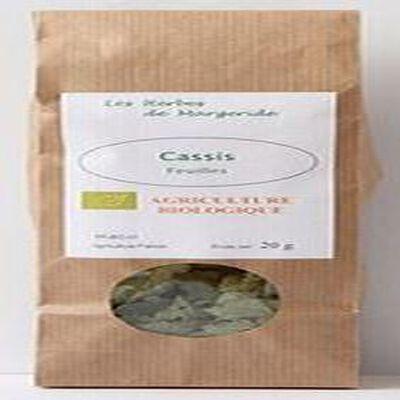 Les herbes en Margeride, Cassis feuille, Bio 20g