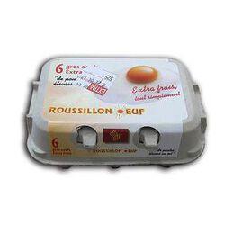 6 GROS OEUFS de poules élevées au sol - ROUSSILLON OEUF