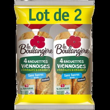 La Boulangère Baguettes Viennoises Céréales Fendues La Boulangère, 2x4 Soit 680g