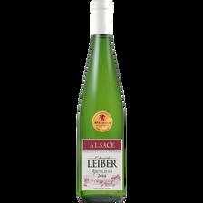 Vin blanc d' Alsace AOP Riesling EDOUARD LEIBER MRP, médaille d'or Lyon, bouteille de 75cl