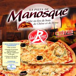 Pizza Label rouge chèvre cuite au feu de bois LA PIZZA DE MANOSQUE, 430g
