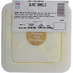Crème glacée vanille, bac de 1l