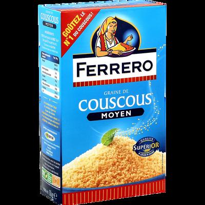 Graines de couscous moyennes FERRERO, 1kg