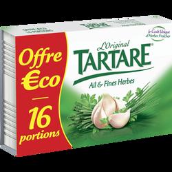 Fromage pasteurisé  ail&fines Herbes 32,2% de matière grasse TARTARE,x16 soit 250g
