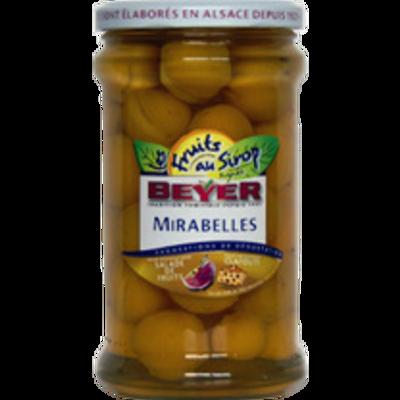 Mirabelles au sirop, BEYER, bocal de 660ml, 350g