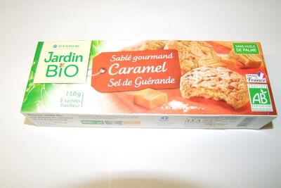 Sablés caramel au sel de guérande JARDIN BIO, 150G