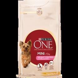 Aliment pour petit chien contrôle de poids à la dinde et au riz PURINAONE, sac de 1,5kg
