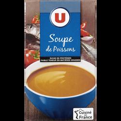 Soupe de poisson aromatisée U, brique de 1 litre