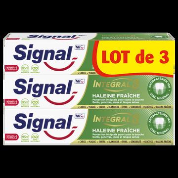 Signal Dentifrice Integral8 Haleine Fraiche Signal 3x75ml