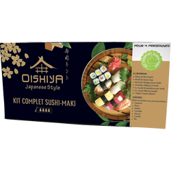 Kit sushi et maki pour 4 personnes OISHIYA, 380g