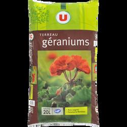 Terreau pour géraniums U, 20 litres