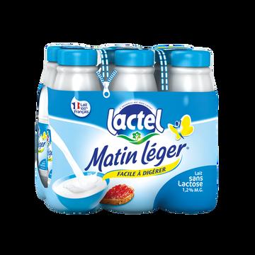 Nestlé Lait Uht À Teneur Réduite En Lactose 1,2%mg, Matin Leger, 6x50cl