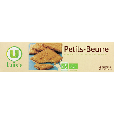 Biscuits petit beurre U BIO, paquet de 150g