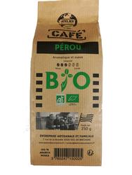 Café moulu Pérou BIO, ATELIER DES CAFES ET THES paquet 250g