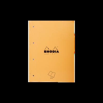 Cahier note étudiant RHODIA, grands carreaux, perforé 4 trous, 22x29,7cm, 160 pages