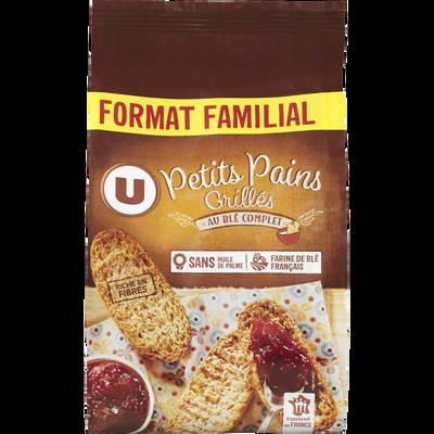 Petits pains grillés au blé complet U, paquet de 400g