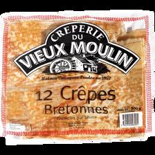 Crêpes bretonnes délicieuse VIEUX MOULIN, sachet de 12, 300g