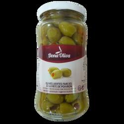 Olives vertes farcies à la pâte de poivrons DONA OLIVA, 210g