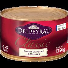 Delpeyrat Confit De Poule 4 Cuisses Classic , Boîte 1,350kg