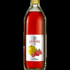 Pur Jus de pomme fraise THOMAS LE PRINCE, bouteille en verre de 1l