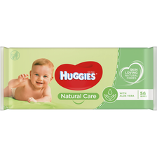Lingettes natural care HUGGIES, x56