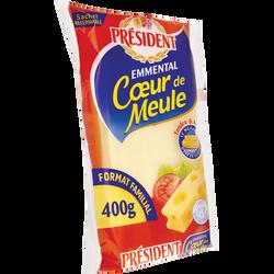 Emmental français au lait pasteurisé, PRESIDENT, 28% de MG, portion de400g
