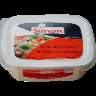 Tartinable de surimi et crabe tourteau(12%) SIMON DUTRIAUX, 150g